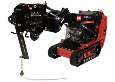 Vibratory Plow for Walk-Behind Skidsteer
